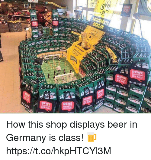 Beer, Soccer, and Germany: BRIN HO  BRIN  BRIN How this shop displays beer in Germany is class! 🍺 https://t.co/hkpHTCYl3M