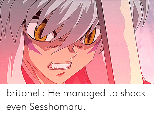 Target, Tumblr, and Blog: britonell:  He managed to shock even Sesshomaru.