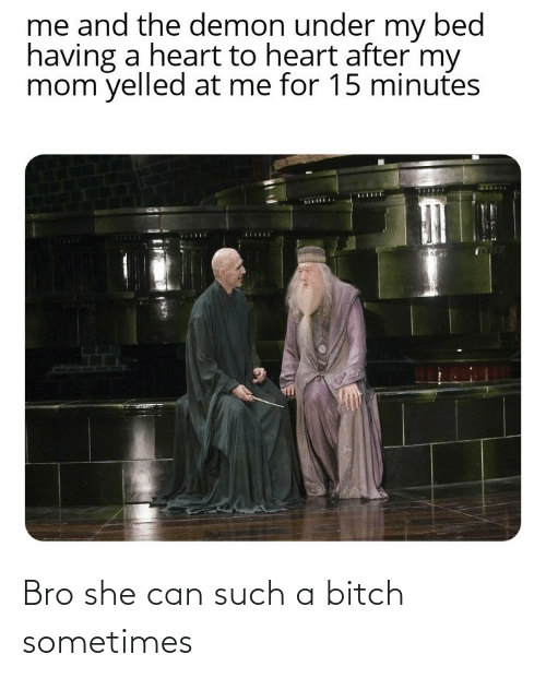 sometimes: Bro she can such a bitch sometimes
