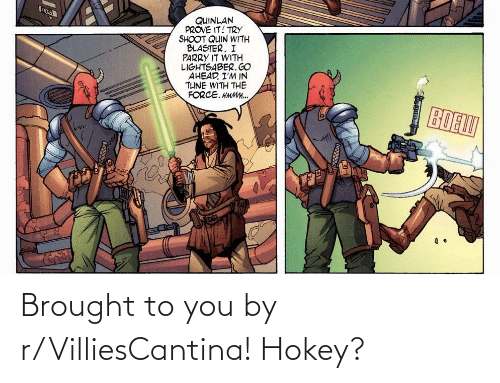 Brought: Brought to you by r/VilliesCantina! Hokey?