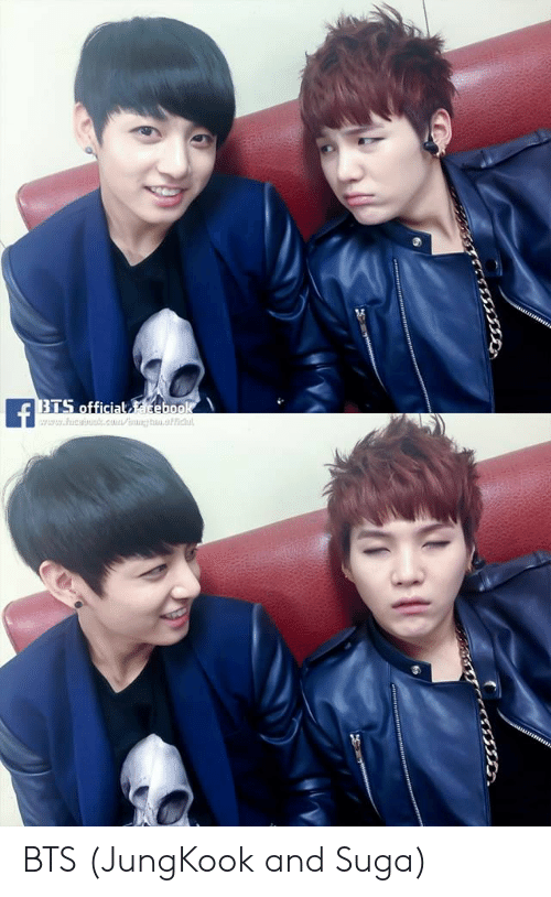 bts jungkook: BTS official acebook  f  www.hica.c/g.ch BTS (JungKook and Suga)