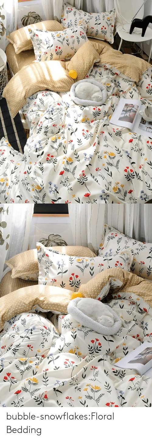 Bubble: bubble-snowflakes:Floral Bedding