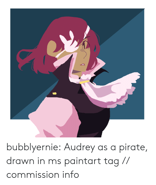 Target, Tumblr, and Blog: bubblyernie:  Audrey as a pirate, drawn in ms paintart tag // commission info
