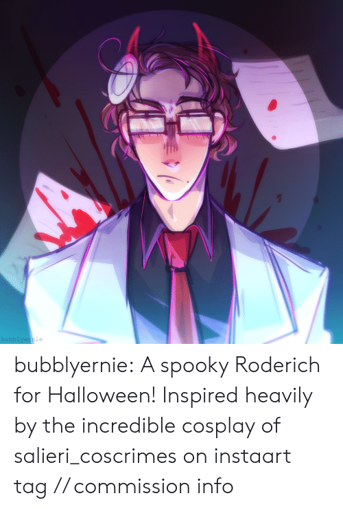 Cosplay: bubblyernie bubblyernie:  A spooky Roderich for Halloween! Inspired heavily by the incredible cosplay of salieri_coscrimes on instaart tag // commission info