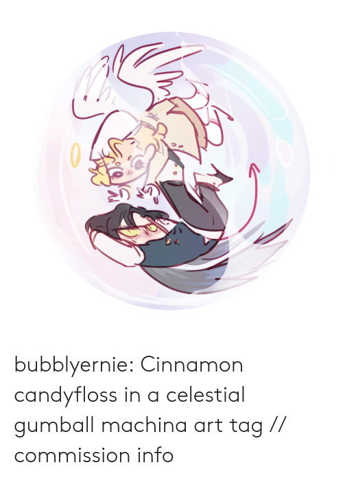 celestial: bubblyernie: Cinnamon candyfloss in a celestial gumball machina art tag // commission info