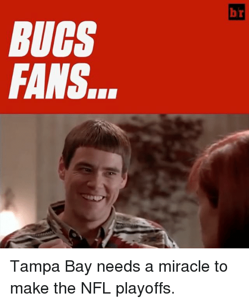NFL playoffs: BUGS  FANS.  b  SS  CN  UA Tampa Bay needs a miracle to make the NFL playoffs.
