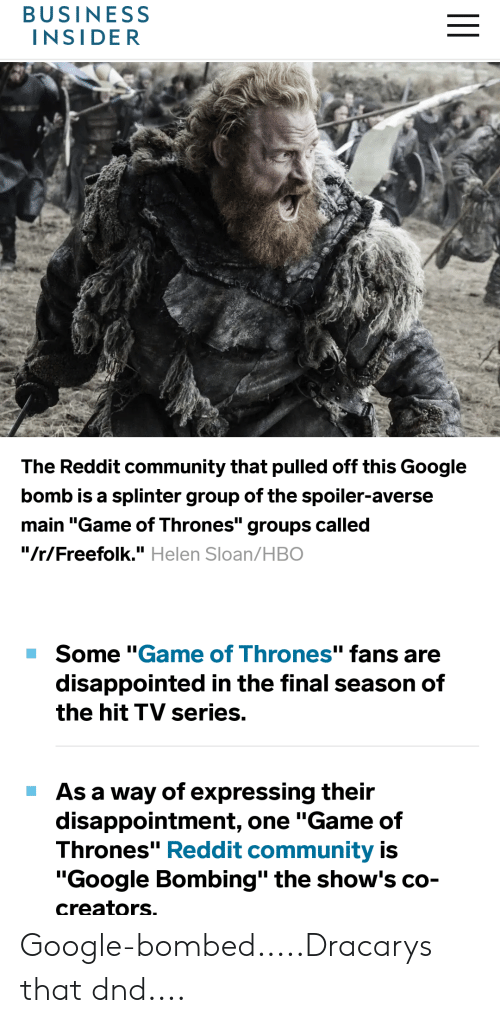 BUSINESS INSIDER the Reddit Community That Pulled Off This