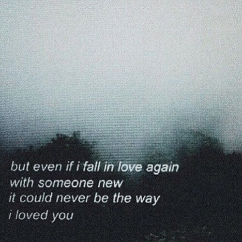 Fall, Love, and Love Again: but even if i fall in love again  with someone new  it could never be the way  i loved you