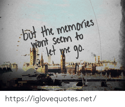 Yo, Net, and Memories: but the memories  ont Seem to  et yo go. https://iglovequotes.net/
