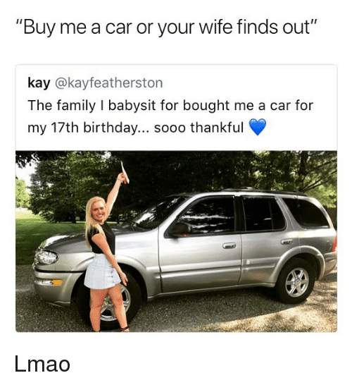 Family Buys Babysitter A Car