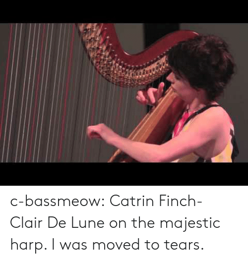 Tumblr, Blog, and Http: c-bassmeow:  Catrin Finch- Clair De Lune on the majestic harp. I was moved to tears.