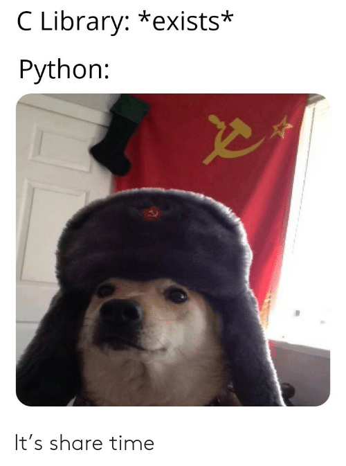 Library, Time, and Python: C Library: *exists*  Python: It's share time
