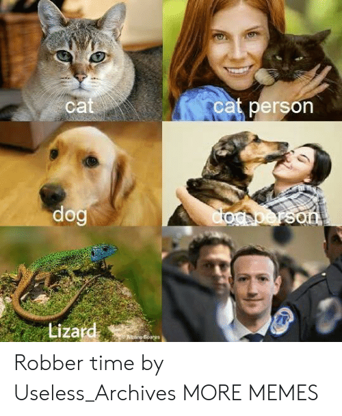 Dank, Memes, and Target: ca  cat person  Lizard Robber time by Useless_Archives MORE MEMES