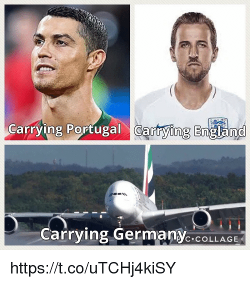 England, Memes, and Collage: Cafrying Portugal Cartying England  0  Carrying GermanYC.COLLAGE https://t.co/uTCHj4kiSY