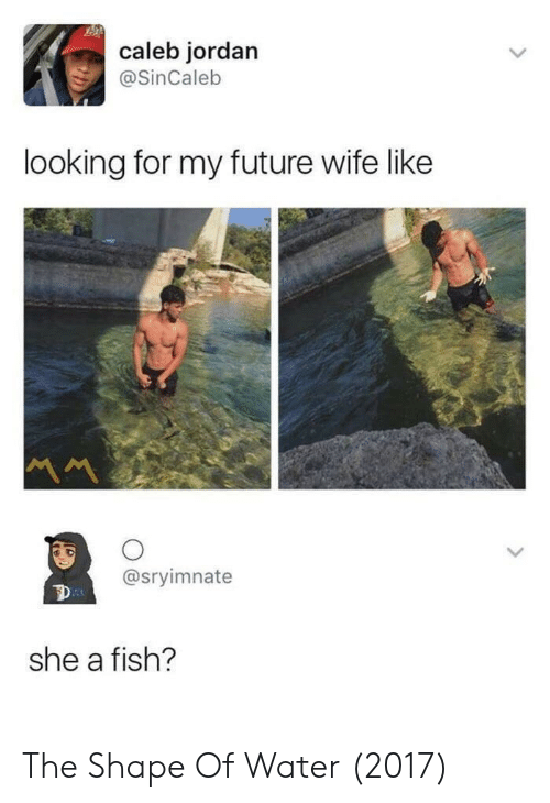 Future Wife: caleb jordan  @SinCaleb  looking for my future wife like  @sryimnate  she a fish? The Shape Of Water (2017)