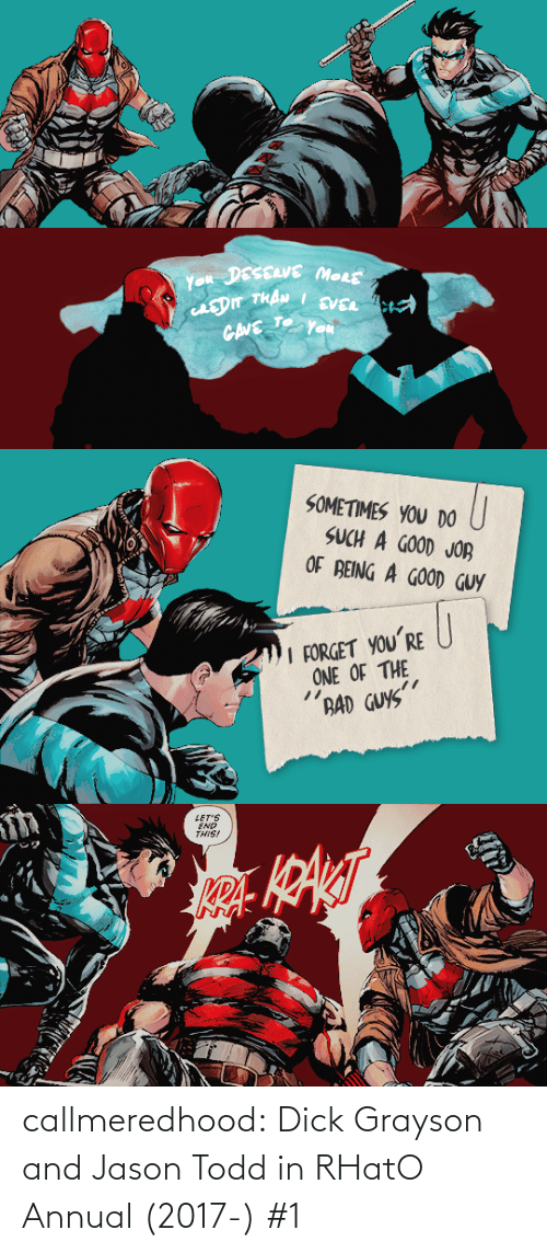class: callmeredhood:  Dick Grayson and Jason Todd in RHatO Annual (2017-) #1