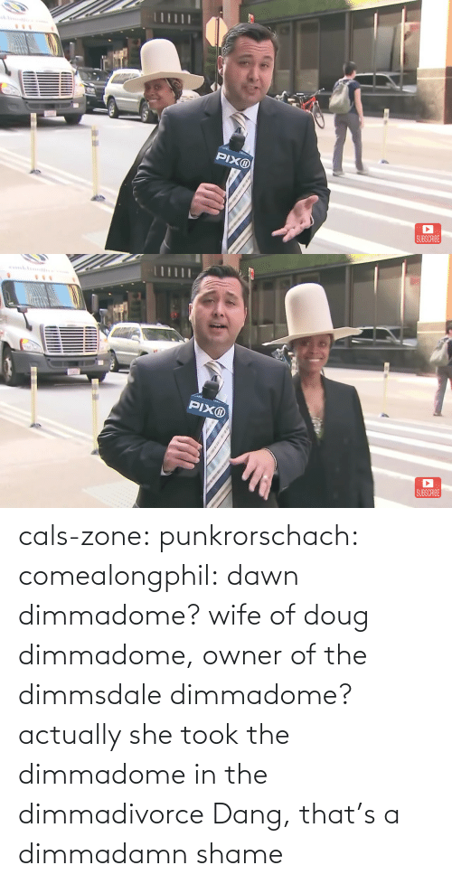 dang: cals-zone: punkrorschach:  comealongphil: dawn dimmadome? wife of doug dimmadome, owner of the dimmsdale dimmadome?  actually she took the dimmadome in the dimmadivorce     Dang, that's a dimmadamn shame