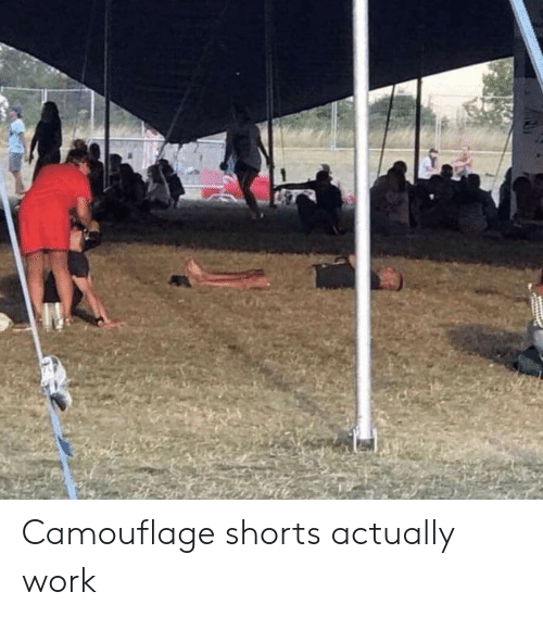 Work, Camouflage, and Actually: Camouflage shorts actually work