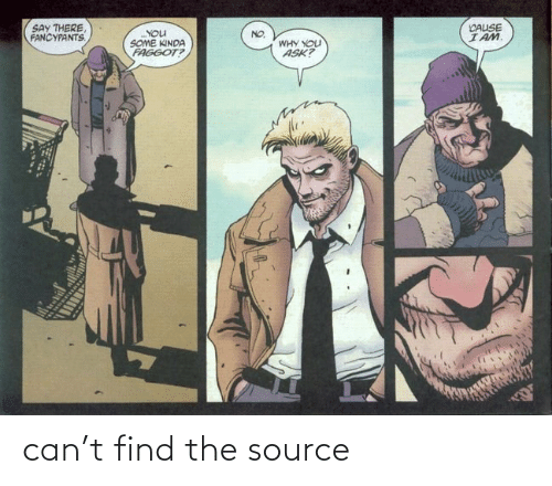 can: can't find the source