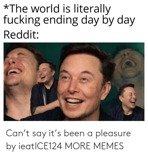 Say it: Can't say it's been a pleasure by ieatICE124 MORE MEMES