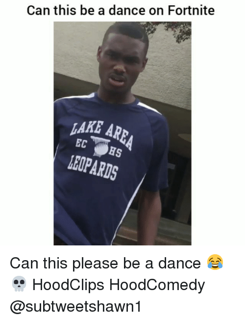 Funny, Dance, and Can: Can this be a dance on Fortnite  AKE AR  LEOPARDS Can this please be a dance 😂💀 HoodClips HoodComedy @subtweetshawn1