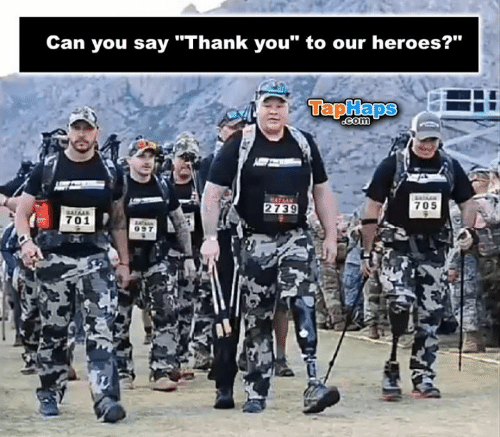 "Memes, Thank You, and Heroes: Can you say ""Thank you"" to our heroes?""  TapHaps  COM  705  2739  701"
