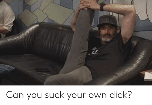 Hot to suck your own dick