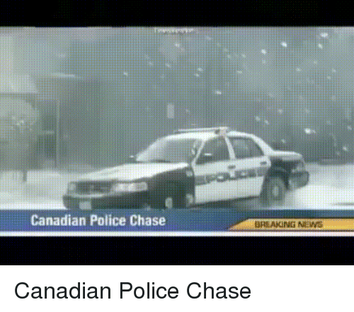 Funny, Gif, and Police: Canadian Police Chase  BREAKING NIN Canadian Police Chase