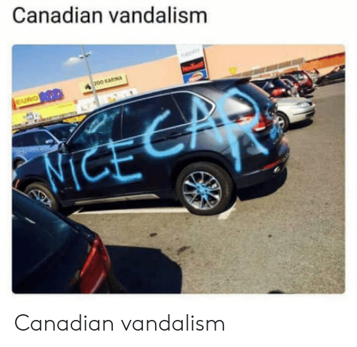 Euro, Canadian, and Vandalism: Canadian vandalism  DO KARINA  EURO Canadian vandalism