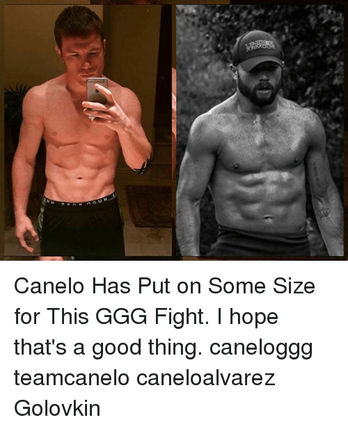 Ggg, Memes, and Good: Canelo Has Put on Some Size for This GGG Fight. I hope that's a good thing. caneloggg teamcanelo caneloalvarez Golovkin