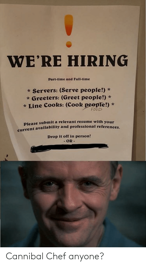 Chef: Cannibal Chef anyone?