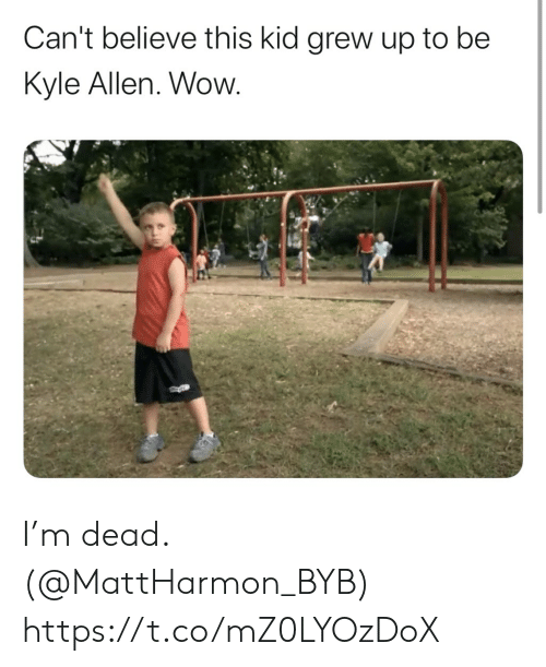 allen: Can't believe this kid grew up to be  Kyle Allen. Wow. I'm dead. (@MattHarmon_BYB) https://t.co/mZ0LYOzDoX