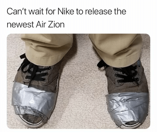 Nike: Can't wait for Nike to release the  newest Air Zion