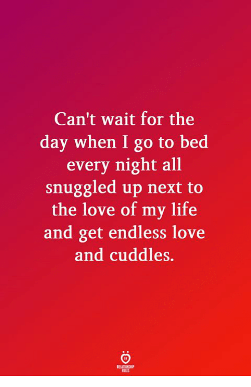 Life, Love, and Endless Love: Can't wait for the  day when I go to bed  every night all  snuggled up next to  the love of my life  and get endless love  and cuddles.
