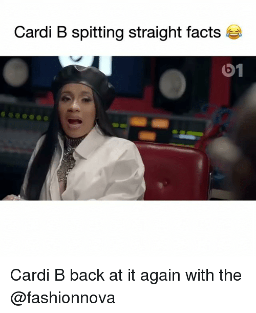 Facts, Funny, and Back at It Again: Cardi B spitting straight facts  01 Cardi B back at it again with the @fashionnova