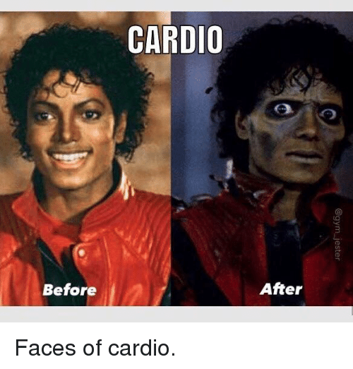 jester: CARDIO  Before  After  @gym-jester Faces of cardio.