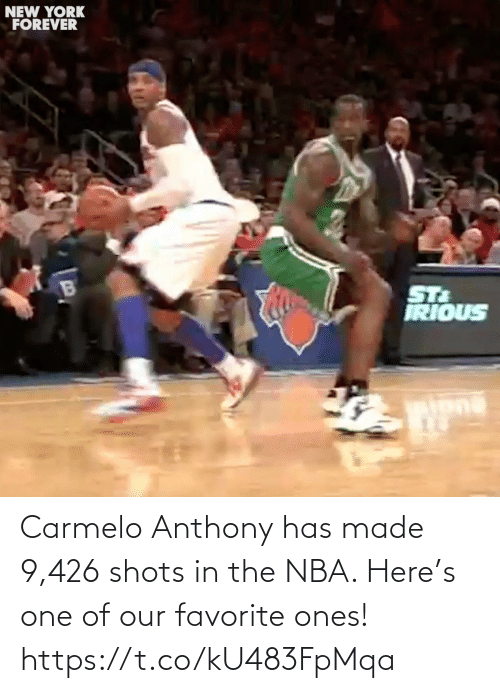 NBA: Carmelo Anthony has made 9,426 shots in the NBA. Here's one of our favorite ones! https://t.co/kU483FpMqa