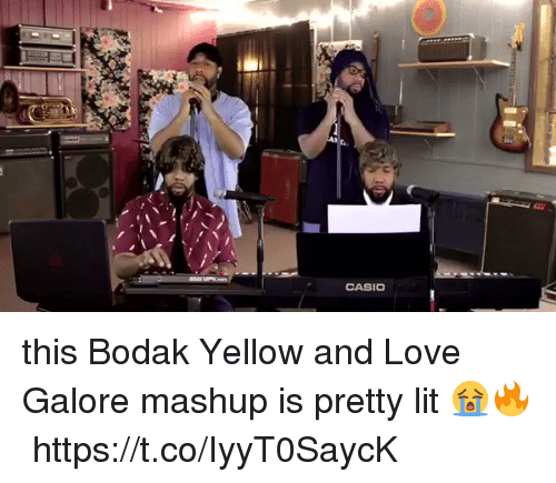 Funny, Lit, and Love: CASIO this Bodak Yellow and Love Galore mashup is pretty lit 😭🔥https://t.co/IyyT0SaycK