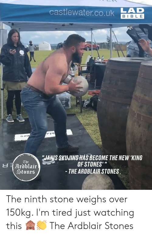 """Dank, Bible, and 🤖: castlewater.co.ukAD  BIBLE  JANIS SKUJINS HASBECOME THE NEW 'KING  OF STONES'""""  - THE ARDBLAIR STONES  The  Ardblair  Stones The ninth stone weighs over 150kg. I'm tired just watching this 🙈👏  The Ardblair Stones"""