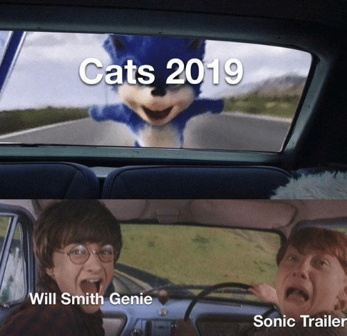 Cats, Will Smith, and Sonic: Cats 2019  Will Smith Genie  Sonic Trailer
