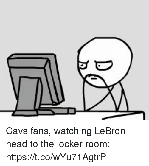 Cavs, Head, and Sports: Cavs fans, watching LeBron head to the locker room: https://t.co/wYu71AgtrP