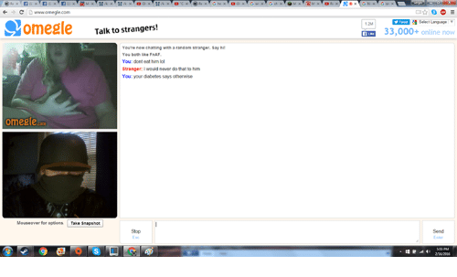 omegle talk to strangers chat
