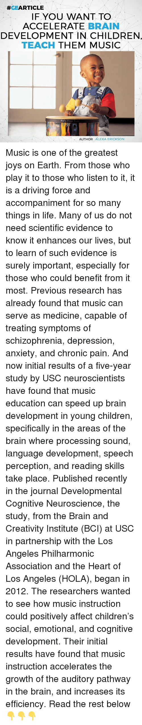 the positive effects of music on child development experience and fulfillment Physical activity is known to have positive effects on positive development my colleagues and i unveiled a new didactic seminar in positive child.