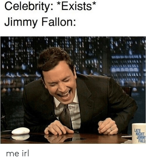 Jimmy Fallon, Irl, and Me IRL: Celebrity: *Exists*  Jimmy Fallon: me irl