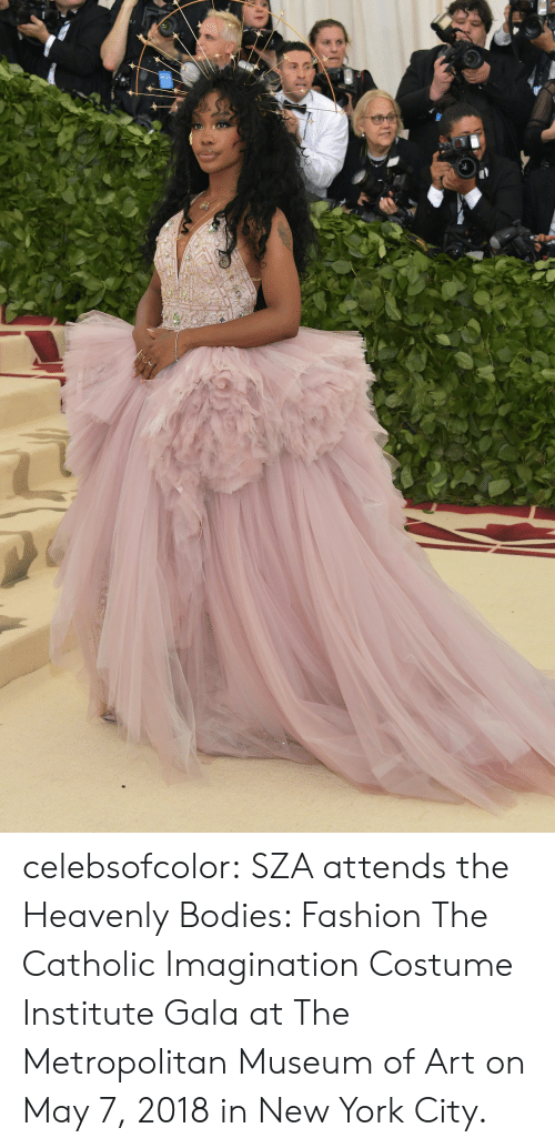 in-new-york-city: celebsofcolor:  SZA attends the Heavenly Bodies: Fashion  The Catholic Imagination Costume Institute Gala at The Metropolitan Museum of Art on May 7, 2018 in New York City.