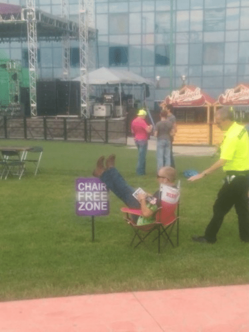 Free, Chair, and Zone: CHAIR  FREE  ZONE