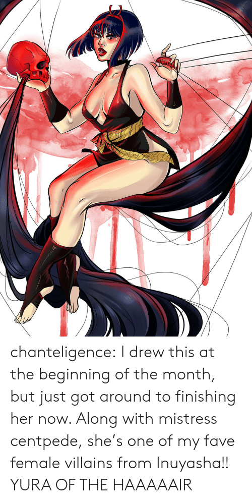 Target, Tumblr, and Blog: chanteligence:  I drew this at the beginning of the month, but just got around to finishing her now. Along with mistress centpede, she's one of my fave female villains from Inuyasha!! YURA OF THE HAAAAAIR