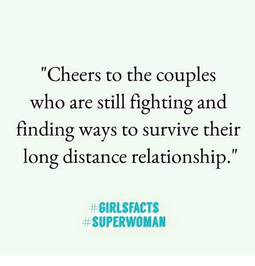 """superwoman: """"Cheers to the couples  who are still fighting and  finding ways to survive their  long distance relationship,  #GIRL$FACTS  # SUPERWOMAN"""