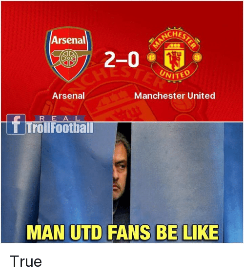 25 Best Memes About Arsenal Manchester United Arsenal Manchester United Memes