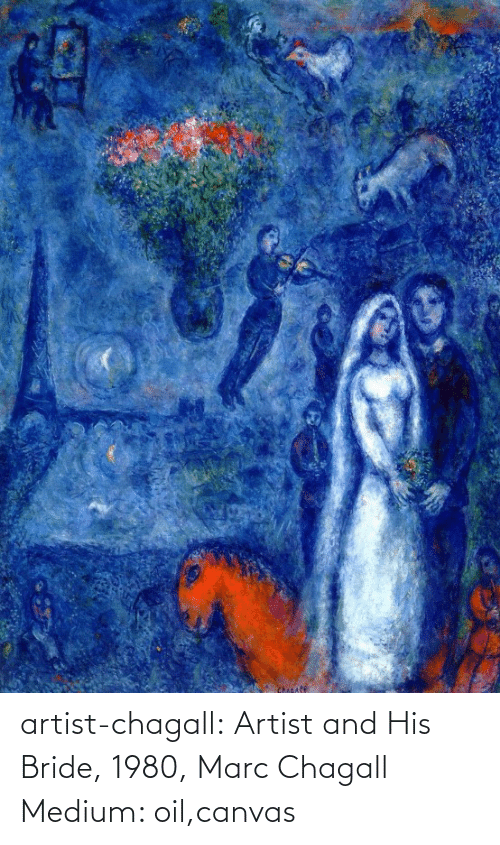 Canvas: Chicafe artist-chagall: Artist and His Bride, 1980, Marc Chagall Medium: oil,canvas